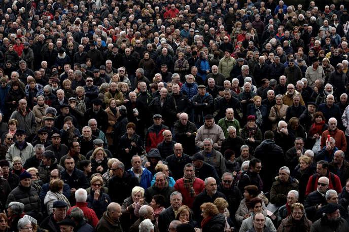 Des retraités dans une manifestation à Bilbao (Espagne)