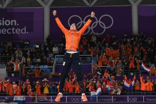 Les championnats des Pays-Bas de patinage de vitesse se déroulent à Pyeongchang, cette année.