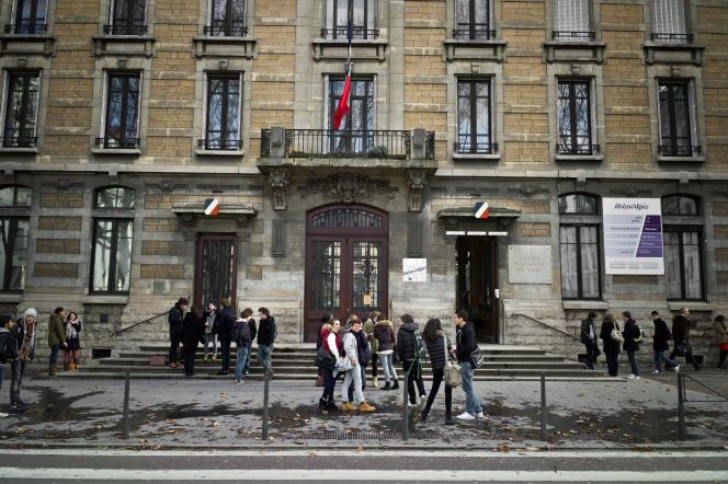 Le lycée du Parc, à Lyon, accueille également des classes préparatoires –ici en janvier 2012.