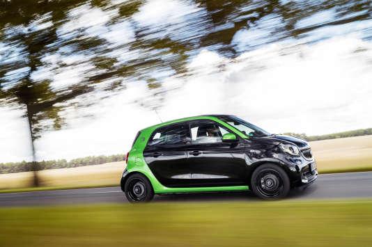 La Smart Forfour Electric Driveavec ses quatre places vise le marché de l'autopartage.
