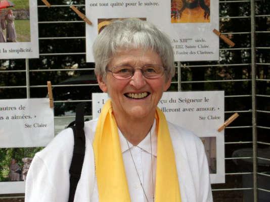 Sœur Bernadette Moriau avait recouvré, en2008, toutes ses facultés physiques après un pèlerinage à Lourdes (Hautes-Pyrénées).