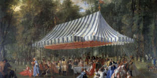 Une fête donnée par le prince de Conti dans la forêt de Cassan, en 1766, œuvre de Michel-Barthélemy Ollivier.