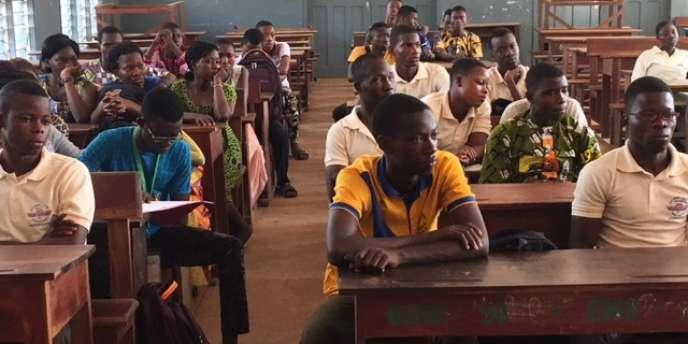 A l'Ecole normale supérieure de Porto Novo, la capitale du Bénin, en janvier 2018.