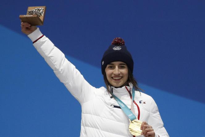 Perrine Laffont, 13 de febrero de 2018, durante los Juegos de Pyeongchang (Corea del Sur).