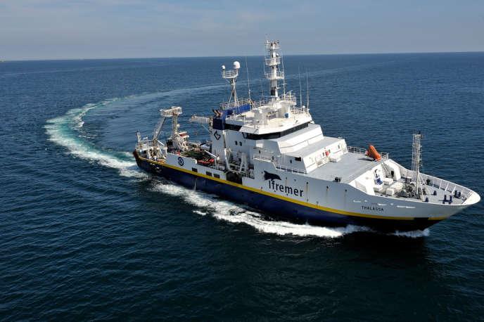 La«Thalassa», l'un des onze navires de l'Institut national de recherche intégrée en sciences marines.