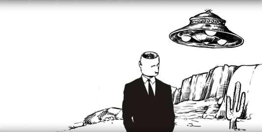 Capture d'écran de la vidéo « Ep05 OVNI : l'origine des soucoupes volantes (Le modèle socio-psychologique) », de la chaîne Youtube Hygiène Mentale