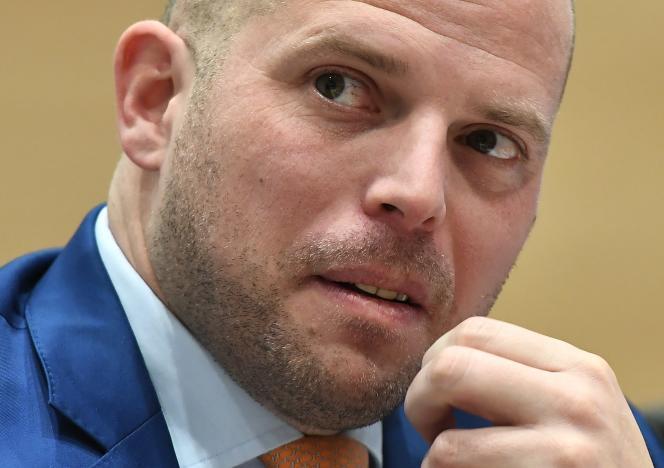 Theo Francken,le secrétaire d'Etat à l'asile et la migration, à Bruxelles, le 23 janvier 2018.