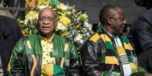 Jacob Zuma et Cyril Ramaphosa, en 2016.