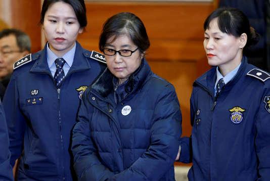 Choi Soon-sil, le 16 janvier 2017.