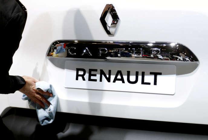 Un véhicule Renault Captur au Salon de l'auto de Bruxelles, le 13 janvier 2017.
