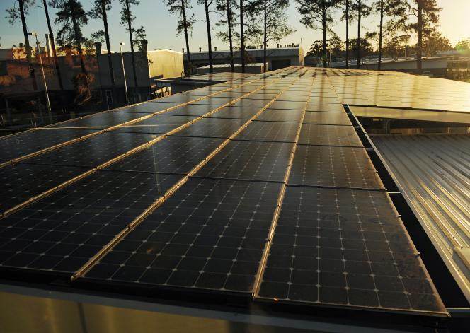 Des panneaux solaires, ici près de Newcastle, enNouvelle-Galles du Sud, en 2012.