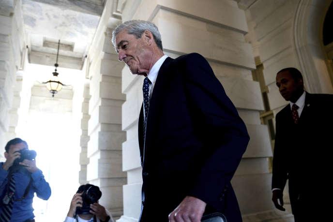 Robert Mueller, le procureur spécial chargé de l'« enquête russe», à Washington, en juin 2017.