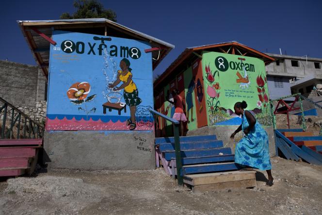 Dans un camp de déplacés, à Port-au-Prince, en janvier 2011.