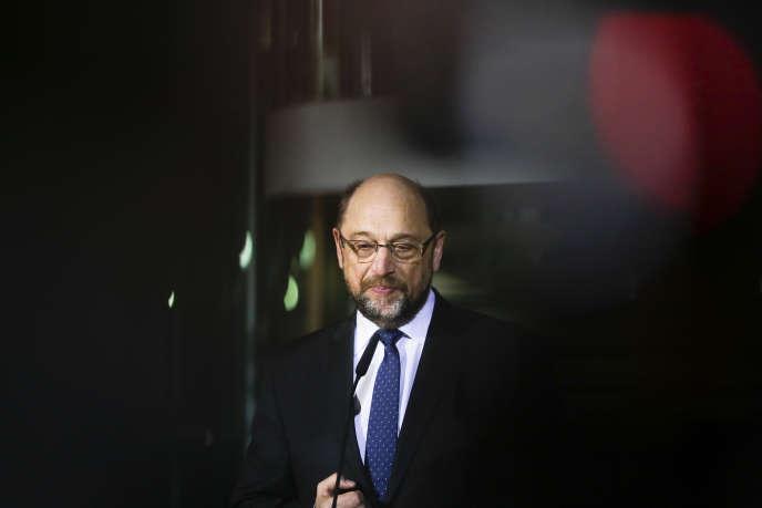 Martin Schulz, le 13 février au siège du SPD, à Berlin.