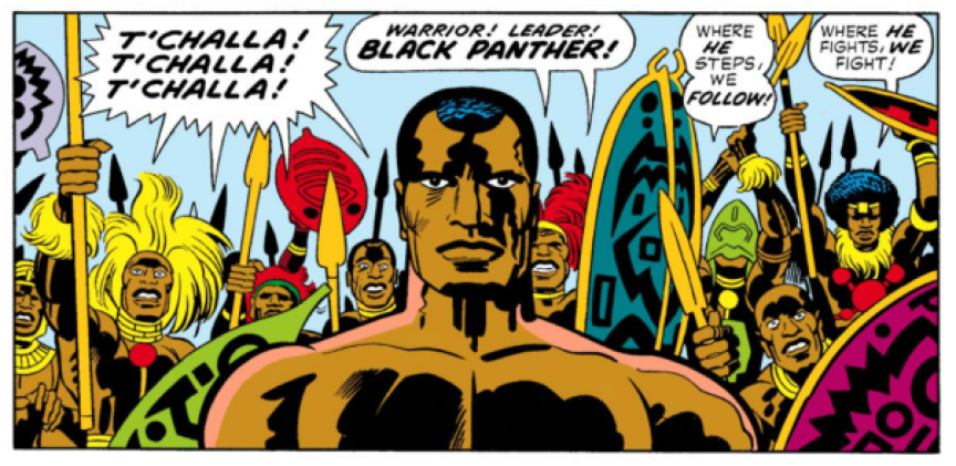 « Black Panther », par Jack Kirby.