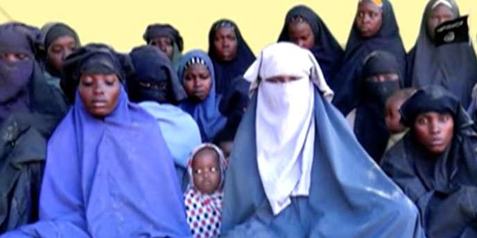 Image récente tirée d'une vidéo non datée des filles de Chibok.