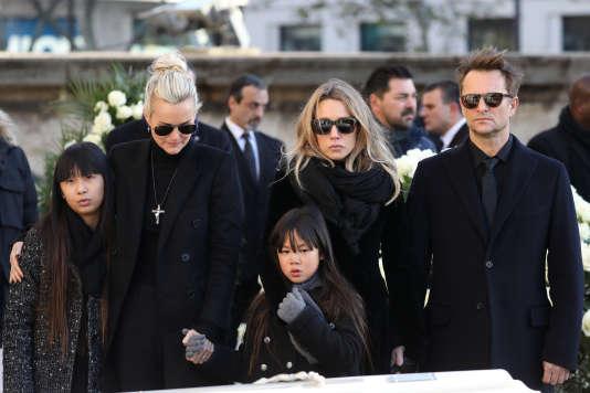 Le 9 décembre, lors des obsèques de Johnny Hallyday.