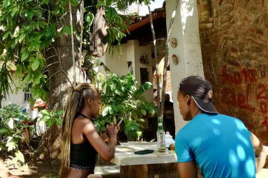 La terrasse du café Don Pepe, à Trinidad.