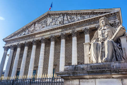 Le palais Bourbon, qui abrite l'Assemblée nationale, pris en photo le 8 septembre 2016.