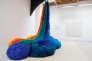 «Atterrissage» (2014), deSheila Hicks dans le cadre del'exposition «Unknown Data», à la galerie Frank Elbaz, à Paris, en 2014.