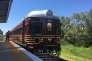 L'ancien« red rattler» réhabilité en train solaire, en novembre 2017 à Byron Bay.