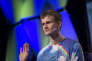 Vitalik Buterin lors de la conférence organisée par le site TechCrunch, le 18 septembre 2017 à San Francisco (Etats Unis).