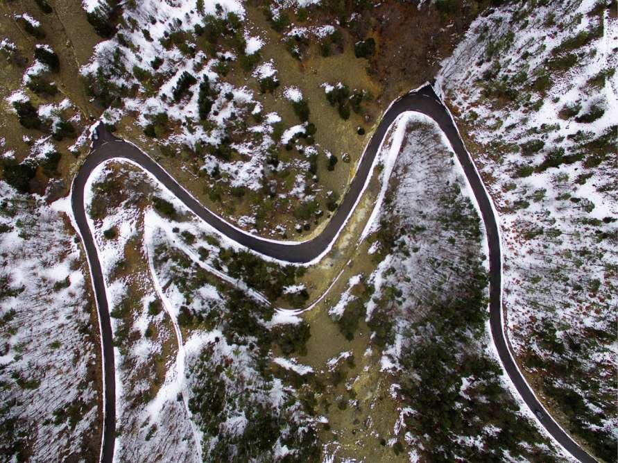 « Sur la route du mont Ventoux. »