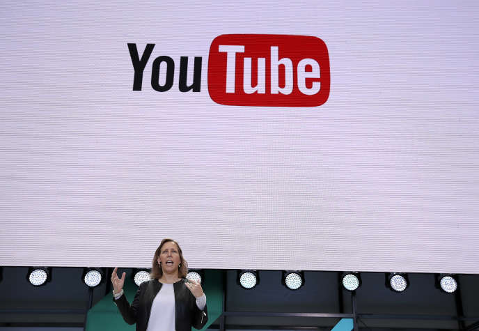 Susan Wojcicki, la patronne de YouTube, lors de la keynote de Google I/O, à Mountain View (California), le 17 mai 2017.