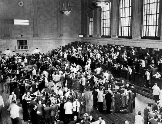 Traders à la Bourse de New York en octobre 1929.