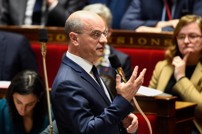 Le ministre de l'éducation, Jean-Michel Blanquer, à l'Assemblée nationale, le 14 février à Paris.