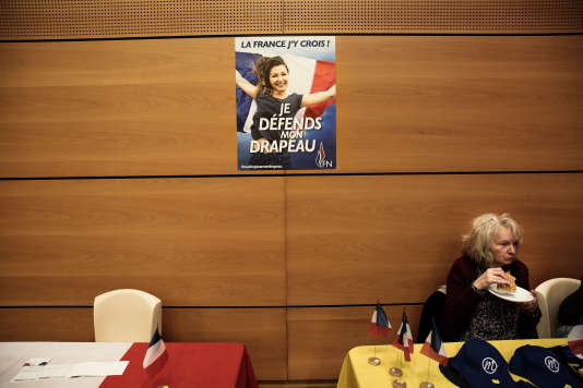 A Caudry, le 21 janvier, lors de la galette des Rois de la fédération FN du Nord, en présence de Marine Le Pen.