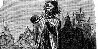 Le joueur de flûte de Hamelin, gravure du XIXe siècle.