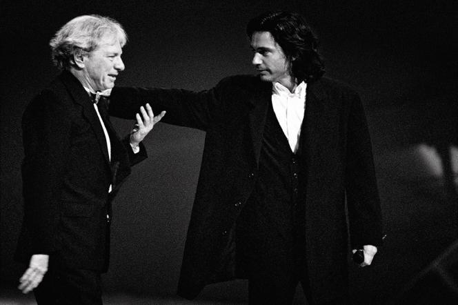 Maurice Jarre et son fils Jean-Michel.