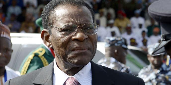 Le président équato-guinéen, Teodoro Obiang Nguema Mbasogo, à Abuja, au Nigeria, en mai 2015.