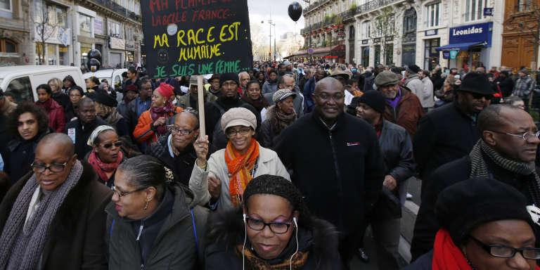 Lors d'une marche contre le racisme, à Paris, en novembre 2013.