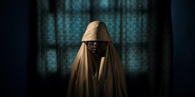 Aisha, 14ans, ancienne otage de Boko Haram, à Maiduguri, au Nigeria, en septembre 2017.