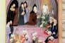 Le prophète Mahomet honoré par des moines chrétiens, miniature turque du XVIIIe siècle.