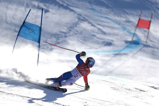 France's Tessa Worley competes in the Women's Giant Slalom at the Yongpyong Alpine Centre during the Pyeongchang 2018 Winter Olympic Games in Pyeongchang on February 15, 2018. / AFP / Martin BERNETTI