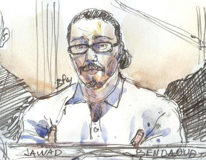 Jawad Bendaoud au palais de justice, à Paris, le 24 janvier 2018.