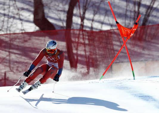 Aksel Lund Svindal a remporté l'épreuve de desente jeudi 15 férvier à Pyeongchang. Patrick Semansky / AP