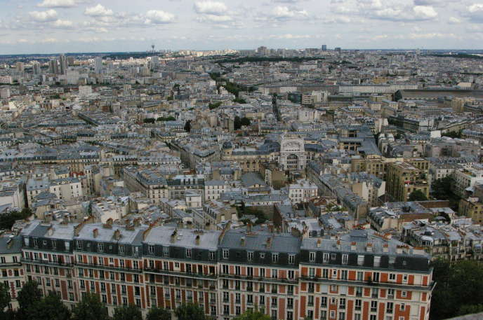Paris, vu depuis la basilique du Sacré-Cœur de Montmartre.