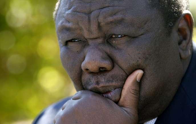 Morgan Tsvangirai à Harare, en 2008.