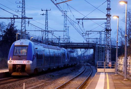 A la gare de Castelnaud'Estretefonds (Haute-Garonne), le 15 février.