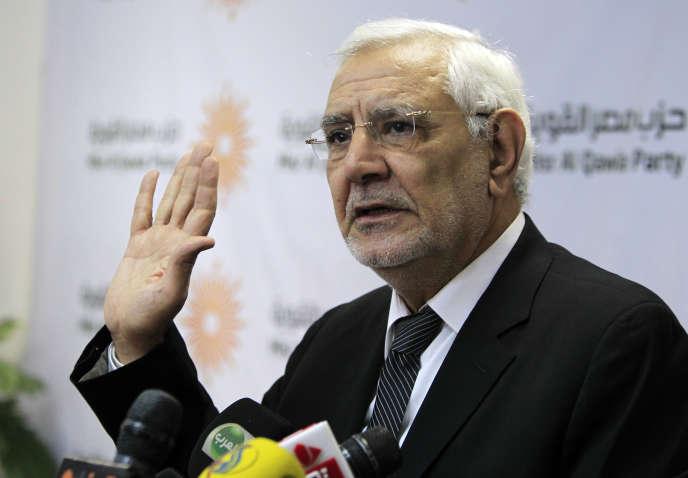 Abdel Moneim Aboul Foutouh, durant une conférence au Caire, le 4 février 2015.