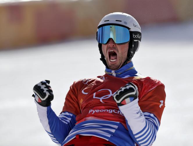 Le Français PierreVaultier aux JO de Pyeongchang, le 15 février.