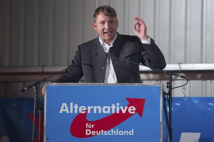 André Poggenburg, chef de file de l'AfD en Saxe-Anhalt, le 14 février à Pirna (Saxe).