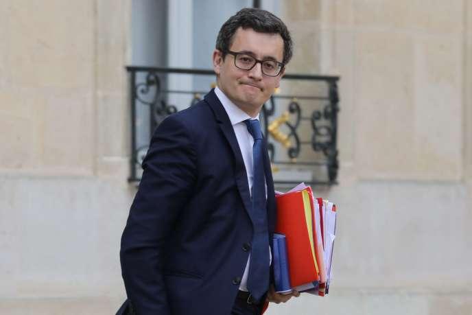 Gérald Darmanin,ministre des comptes publics, à la sortie du conseil des ministres, au palais de l'Elysée, le 14 février.