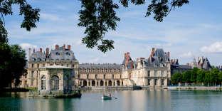 L'étang des Carpes du château de Fontainebleau.