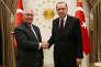 Rex Tillerson, le secrétaire d'Etat américain, a été reçu parRecep Tayyip Erdogan, le président turc, à Ankara, le 15 février 2018.