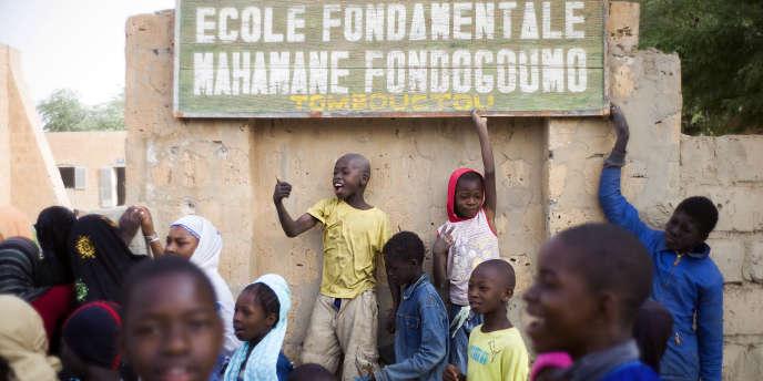 Dans une école de Tombouctou, au Mali, en février 2013.